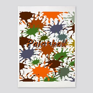Fun Paintball Splatter 5'x7'Area Rug