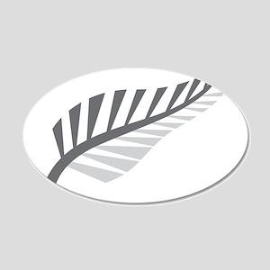 Silver Fern Kiwi New Zealand Wall Decal Sticker