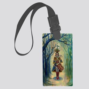 Drummer Girl Large Luggage Tag