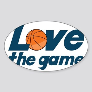 Love The Game Sticker (Oval)