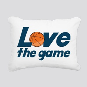 Love The Game Rectangular Canvas Pillow