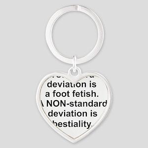 Standard Deviation 1 Heart Keychain