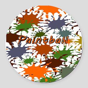 Fun Paintball Splatter Round Car Magnet
