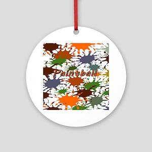 Fun Paintball Splatter Round Ornament