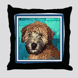 Soft Coated Wheaten Terrier Throw Pillow