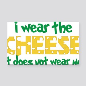 Wear The Cheese Rectangle Car Magnet