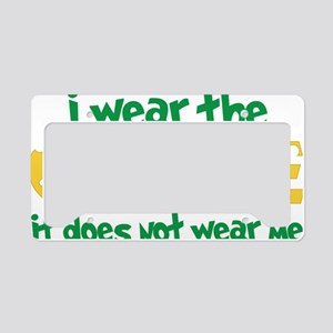 Wear The Cheese License Plate Holder