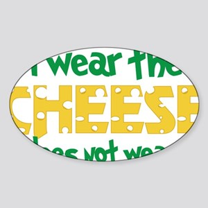 Wear The Cheese Sticker (Oval)