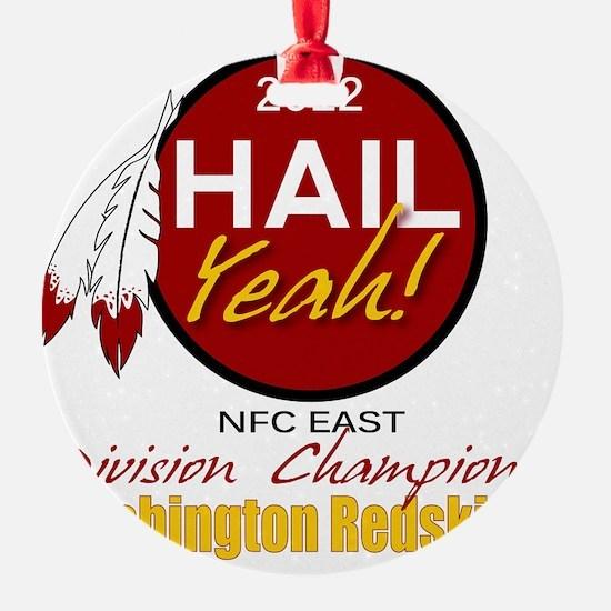 Redskins Hail Yeah NFC East 2012 Ch Ornament