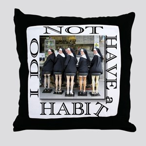 habit1 Throw Pillow