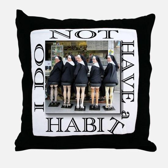 habit1 Throw Pillow