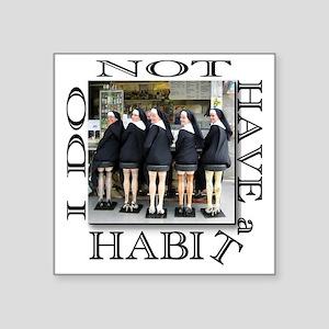"habit1 Square Sticker 3"" x 3"""