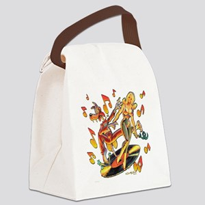 Rockin Wolf Canvas Lunch Bag