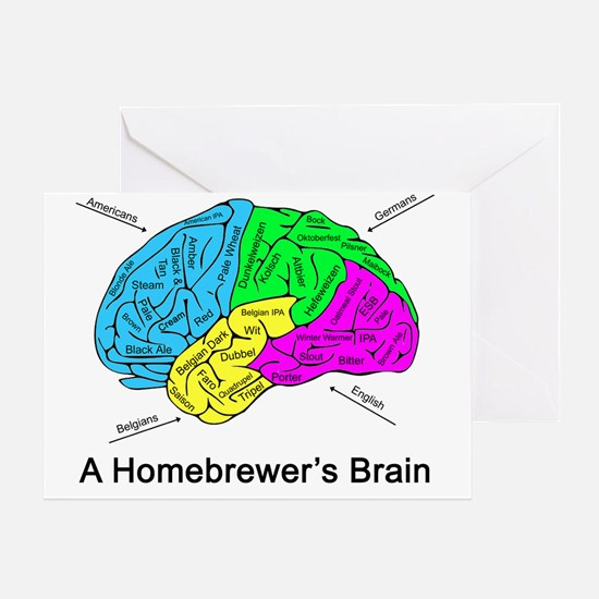 A Homebrewer's Brain Greeting Card