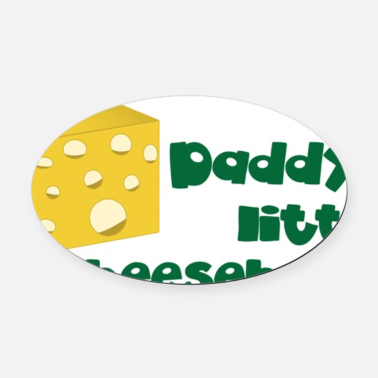 Little Cheesehead Oval Car Magnet