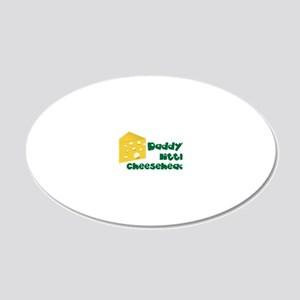 Little Cheesehead 20x12 Oval Wall Decal