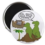 Dinosaur funny Round Magnets