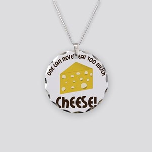Cheese Necklace Circle Charm