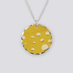Swiss Cheese Necklace Circle Charm