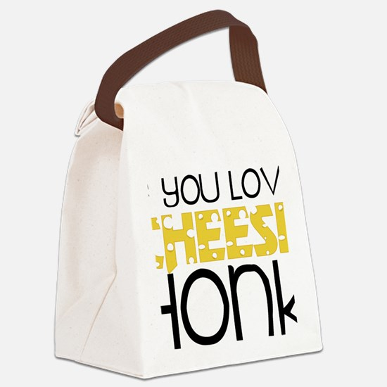 Love Cheese Canvas Lunch Bag