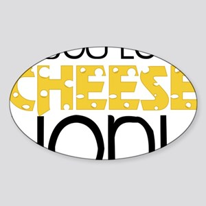 Love Cheese Sticker (Oval)