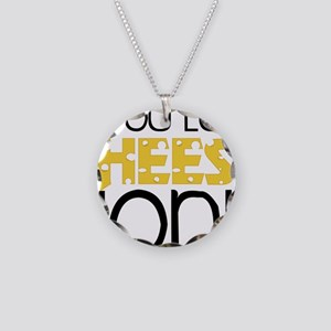 Love Cheese Necklace Circle Charm