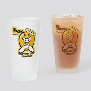 Be Strong Smiley Drinking Glass