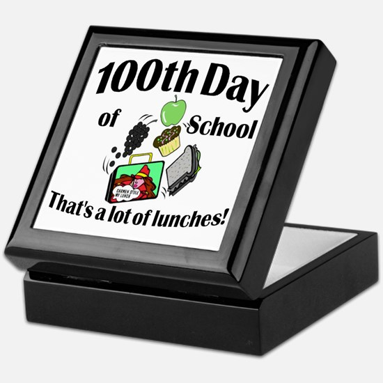 100th Day Lunches Keepsake Box