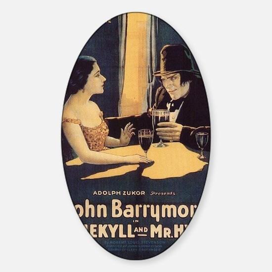 john barrymore Sticker (Oval)