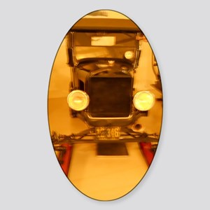 1926 Model T Snowmobile Sticker (Oval)