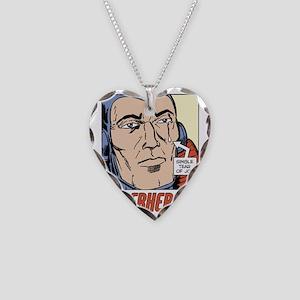 Superhero Tear of Joy Necklace Heart Charm