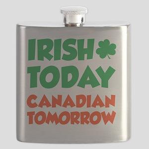 Irish Today Canadian Tomorrow Flask