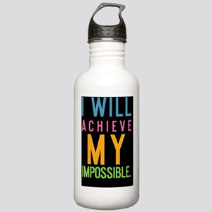 tile I will achieve my Stainless Water Bottle 1.0L