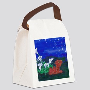 Star Gazer Dragon Canvas Lunch Bag