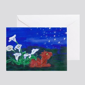 Star Gazer Dragon Greeting Card