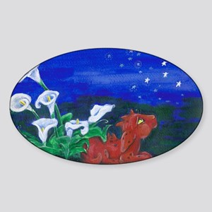 Star Gazer Dragon Sticker (Oval)