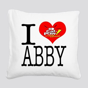 I Heart Abby and Caf-Pow of N Square Canvas Pillow