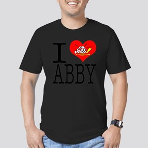 I Heart Abby and Caf-P Men's Fitted T-Shirt (dark)