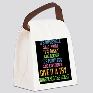 card Its impossible said pride. I Canvas Lunch Bag
