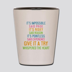 iphone Its impossible said pride. Its r Shot Glass
