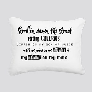 Mind On My Mommy Rectangular Canvas Pillow