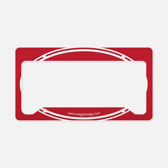WOOF! Red License Plate Holder