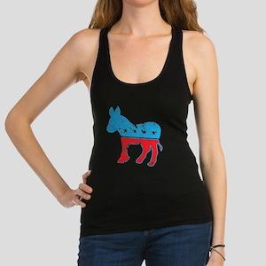 Democrat Donkey (Grunge Texture Racerback Tank Top