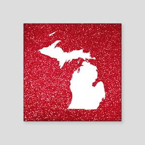 """Michigan Square Sticker 3"""" x 3"""""""