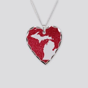 Michigan Necklace Heart Charm