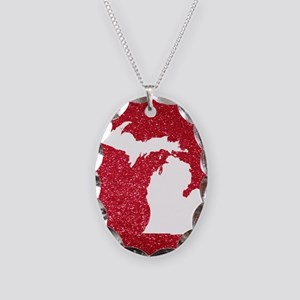 Michigan Necklace Oval Charm