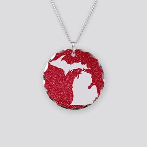 Michigan Necklace Circle Charm