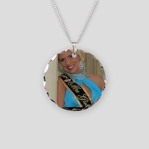 Mrs Global United Elaine Rei Necklace Circle Charm