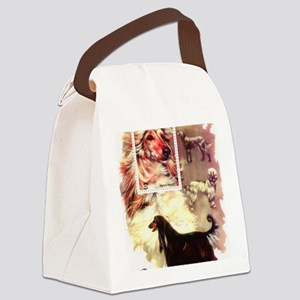 Afghan Hounds from Afghanistan Canvas Lunch Bag