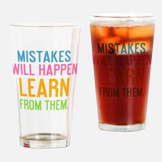 bottle Mistakes will happen learn f Drinking Glass